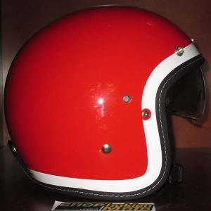 Mũ cafe racer 3/4 HJC FG 70s (đỏ trắng xanh) (size: L/ XL)