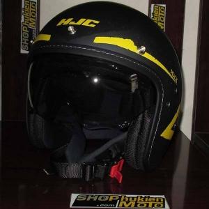 Mũ cafe racer 3/4 HJC FG 70s (Xám Đen Vàng) (size: L/ XL)