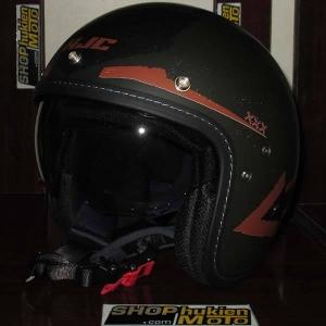 Mũ cafe racer 3/4 HJC FG 70s (Xám Đen Đỏ) (size: L/ XL)