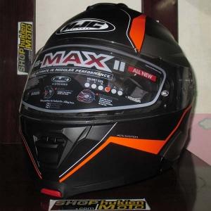Mũ Bảo Hiểm Lật Cằm (Flip up) HJC IS - Max II (Đen nhám sọc cam) (size: M/L/XL)