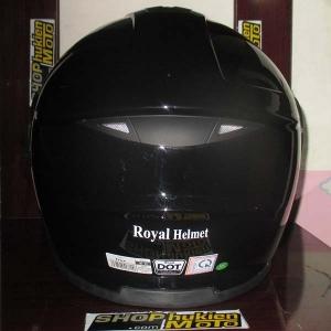 Mũ bảo hiểm lật cằm Royal (Đen bóng)