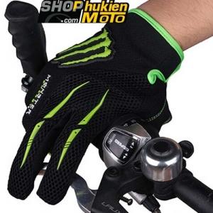 Găng tay monster Oneal dài ngón (Đen Xanh Lá) (Size: M/L/XL)