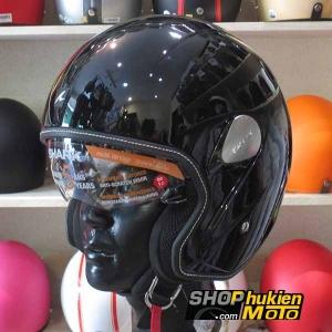 Mũ bảo hiểm 3/4 SHARK (Đen bóng) (Size: M/ L/XL)