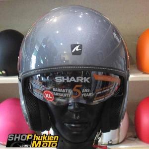 Mũ bảo hiểm 3/4 SHARK (Xám bóng) (Size L/XL)