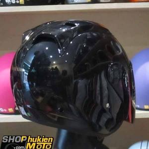 Mũ 3/4 ROYAL (Đen bóng) (Size: L)