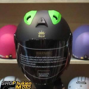 Mũ 3/4 ROYAL (Đen xanh nhám) (Size: L)