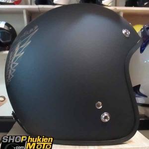 Mũ bảo hiểm 3/4 DAMMTRAX ASIA (Ride To Feel Free Đồng)
