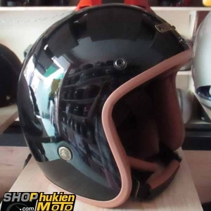 Mũ bảo hiểm 3/4 Bulldog (Đen bóng) (size: M/L/XL)