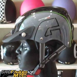 Mũ bảo hiểm 1/2 LOTO GIVI (đen xám xanh/ bóng) (size M/ L)