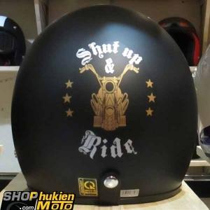 Mũ bảo hiểm 3/4 DAMMTRAX ASIA (Ride Shut Up Đồng)