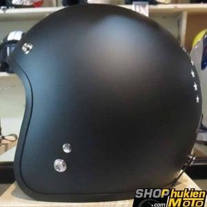 Mũ bảo hiểm 3/4 DAMMTRAX ASIA (Ride Shut Up Trắng)