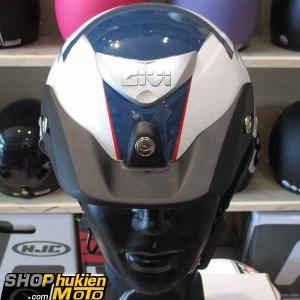 Mũ bảo hiểm 1/2 LOTO GIVI (Trắng xanh đỏ/ bóng) (size M/ L)