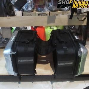 Túi treo hông 2 bên xe MOTO KOMINE SA234 (Màu bạc)