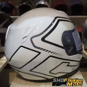 Mũ bảo hiểm Fullface HJC CL-Y (Trắng bóng viền đen) (Size: L/ XL)
