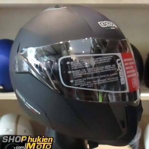 Mũ bảo hiểm fullface lật cằm (hàm) Beon B700 (size M/L/ XL) (đen nhám)
