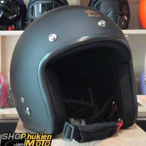 Mũ bảo hiểm 3/4 ROYAL M20 (Màu đen nhám) (Size M/ L)