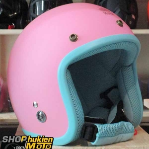 Mũ bảo hiểm 3/4 ROYAL M20 (Màu hồng nhám viền xanh đậm) (Size M/ L)