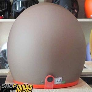 Mũ bảo hiểm 3/4 ROYAL M20 (Nâu nhám viền cam) (Size M/ L)