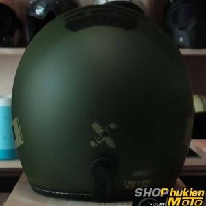 Mũ cafe racer 3/4 HJC FG 70s (Xanh lính) (size: L/ XL)