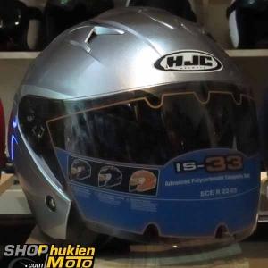 Mũ bảo hiểm 3/4 HJC IS-33 chuẩn ECE (Bạc bóng)