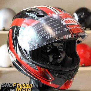 Mũ bảo hiểm Fullface BELL QUALIFIE (Chuẩn: DOT) (Đen bóng sọc đỏ) (Size: M/L/XL)