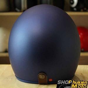 Mũ bảo hiểm 3/4 Bulldog (V1) (Xanh đậm nhám) (size: M/L/XL)