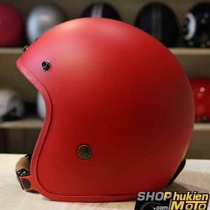 Mũ bảo hiểm 3/4 Bulldog (V1) (Đỏ nhám) (size: M/L/XL)