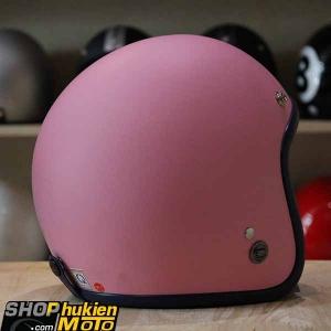 Mũ bảo hiểm 3/4 ROYAL M20 (Hồng nhạt nhám viền xanh đậm (Size M/ L)