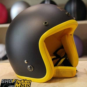 Mũ bảo hiểm 3/4 ROYAL M20 (Màu lông chuột viền vàng nhám) (Size M/ L)