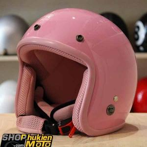 Mũ bảo hiểm 3/4 ROYAL M20 (Màu hồng bóng viền hồng) (Size M/ L)
