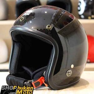 Mũ bảo hiểm 3/4 ROYAL M20 (Màu đen bóng (Size M/ L)