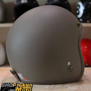 Mũ bảo hiểm 3/4 ROYAL M20 (Nâu nhám viền nâu) (Size M/ L)