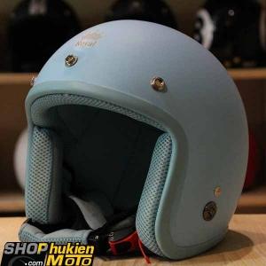 Mũ bảo hiểm 3/4 ROYAL M20 (Xanh nhạt nhám viền xanh) (Size M/ L)