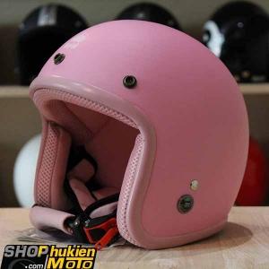 Mũ bảo hiểm 3/4 ROYAL M20 (Màu hồng nhạt nhám viền hồng) (Size M/ L)