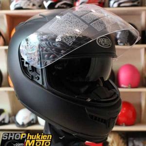 Mũ bảo hiểm Fullface Premier 2 kính (Đen nhám) (Size: L/XL)