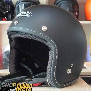 Mũ bảo hiểm 3/4 ANDES (đen nhám) (Size: XL)