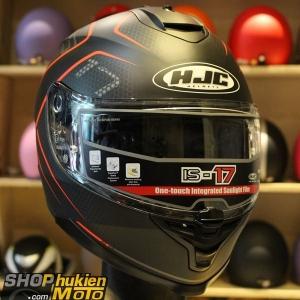 Mũ Bảo Hiểm Fullface HJC IS-17 LANK đen/đỏ ( SIZE: M/L/XL)