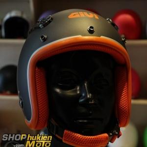 Mũ 3/4 GIVI DUHO Matt Titanium (Size: M/L)