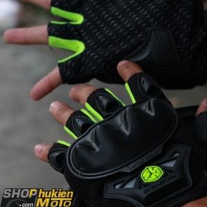 Găng tay scoyco cụt ngón MC 29 (xanh lá/đen)