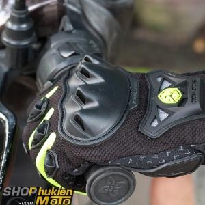 Găng tay scoyco dài ngón MC29 (xanh lá/đen)