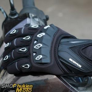 Găng tay dài ngón scoyco MC10 (Trắng/đen) (Size: M/L/XL)