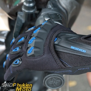 Găng tay dài ngón scoyco MC10 (xanh/đen) (Size: M/L/XL)