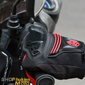 Găng tay dài ngón scoyco MC24 (đỏ/đen)