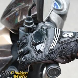 Găng tay dài ngón scoyco MC24 (trắng/đen)