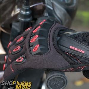Găng tay dài ngón scoyco MC10 (đỏ/đen) (Size: M/L/XL)