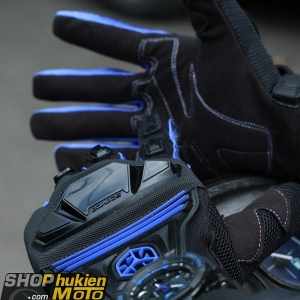 Găng tay dài ngón scoyco MC24 (xanh/đen)
