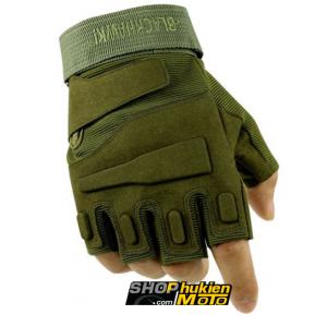 Găng tay Black HAWK CỤT Ngón (màu lính) (Size: M/L/XL)