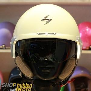 Mũ 3/4 Scorpion EXO-100 (màu sữa bóng) (Size: M/L/XL)