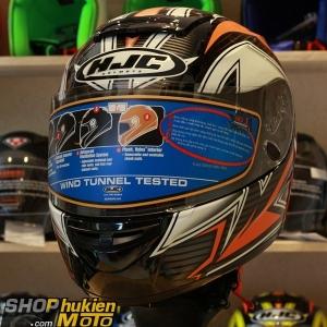 Mũ Bảo Hiểm Fullface HJC Cool ROCKER (Đen Cam Trắng) (Size: M/L/XL)