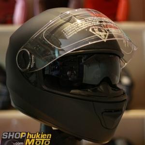 Mũ bảo hiểm Fullface YOHE 965 2 kính (đen nhám) (Size: S/M/L/XL)